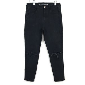 American Eagle Hi Rise Jegging Black Stretch Jean